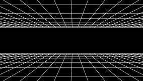FORWARD flight seamless grid net polygonal wireframe abstract retro tunnel slow motion loop drawing motion graphics. Grid net abstract drawing polygonal soft stock video footage