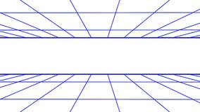 FORWARD flight seamless grid net polygonal wireframe abstract retro tunnel slow motion loop drawing motion graphics. Grid net abstract drawing polygonal soft stock footage