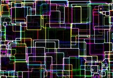 Grid over black background Stock Images