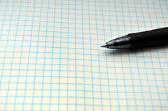 Grid Paper with Pen Royalty Free Stock Photo