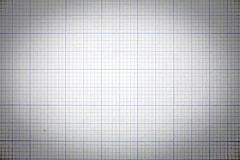 Grid paper with vintage tone and vignette effect Royalty Free Stock Images