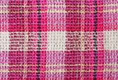 Grid pattern fabric texture Royalty Free Stock Photography