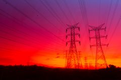 Grid power Stock Image