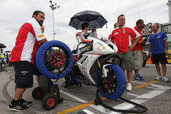 Grid Power team by Suriano Triumph Daytona royalty free stock photography