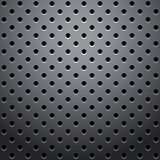 Grid with round dots. Vector Illustration Royalty Free Stock Photo