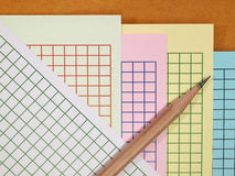 Grid scale paper Royalty Free Stock Photo