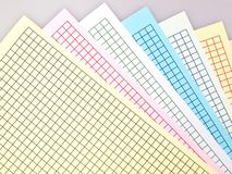 Grid scale paper Stock Photos
