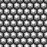 Grid of seamless hexagons Stock Photo