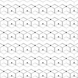Grid seamless pattern. Geometric cube, Star effect. Fashion graphic design.Vector illustration. Background design.Modern stylish a Stock Images