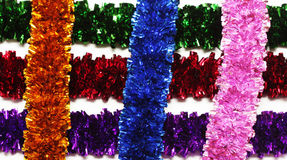 Grid-shaped tinsel isolated on white background Royalty Free Stock Photos