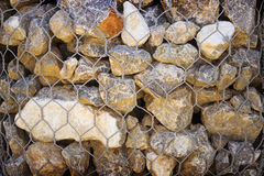 Grid with small stones of granite Royalty Free Stock Photo