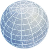 Grid sphere illustration Stock Photography