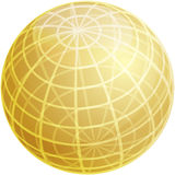 Grid sphere illustration Royalty Free Stock Image