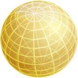 Grid sphere illustration Royalty Free Stock Image
