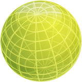 Grid sphere illustration Stock Images