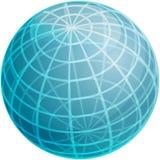 Grid sphere illustration royalty free illustration