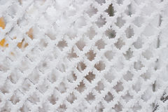 Grid with square cells in snow Stock Image