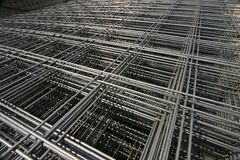 Grid of steel Stock Photography