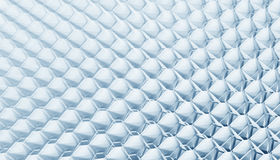 Grid Structure. Hexagon Grid Structure in Blue Stock Photography