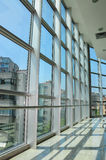 Grid Structure Windows With Outside View Royalty Free Stock Images