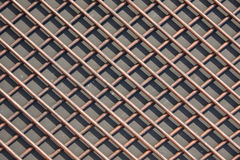 The grid of thick rods. Rods made of nonferrous metal. Texture, Stock Photography