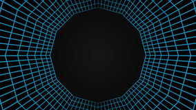 Grid tunel, mesh 3d abstract background. Vector illustration Stock Photo