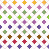 Grid with varicolored squares. Seamless pattern Royalty Free Stock Images