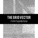 The Grid vector background with grunge texture vector illustration