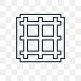 Grid vector icon isolated on transparent background, linear Grid stock illustration