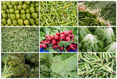 Grid of Vegetables and Fruits Royalty Free Stock Photos