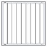 Grid with vertical rods. Industrial grid with vertical rods. Vector illustration Royalty Free Stock Image
