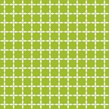 Grid of white leafs on green background. Seamless pattern. Abstract vector illustration Stock Image