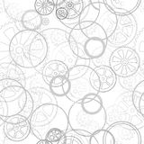 Grid on a white seamless. Grey gears on a white background, seamless pattern vector illustration stock images