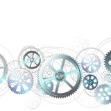 Grid on a white. Steel gears on a white background, vector illustration clip-art royalty free illustration