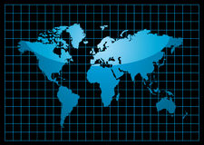 Grid world black Royalty Free Stock Photography