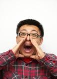 Gridare Fotografie Stock Libere da Diritti