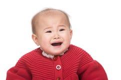 Gridare asiatico della neonata fotografie stock libere da diritti