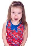 Gridare bambina Immagini Stock