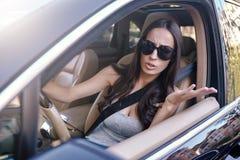 Gridare castana nell'incidente stradale fotografie stock