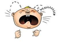 Gridare del bambino Immagini Stock