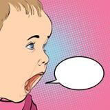 Gridare del bambino del fumetto Immagini Stock Libere da Diritti