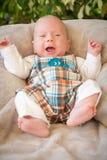 Gridare del neonato Immagini Stock