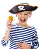 Gridare del pirata fotografie stock