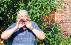 Gridare dell'uomo. Fotografie Stock Libere da Diritti