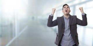 Gridare dell'uomo infuriato Fotografia Stock Libera da Diritti
