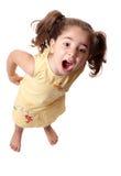 Gridare della bambina Immagini Stock