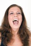 Gridare della donna Immagine Stock