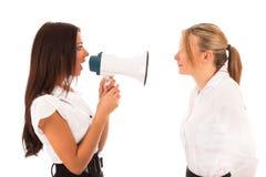 Gridare della donna di affari Immagine Stock Libera da Diritti