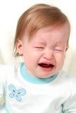 Gridare della neonata fotografie stock