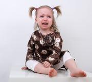 Gridare della neonata Immagini Stock